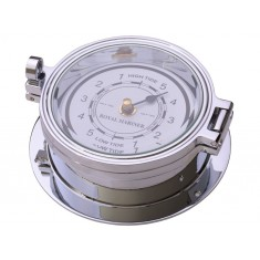 Chrome Tide Clock 116mm